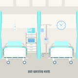 Medical post operating recovery ward poster Stock Photo