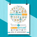 Medical poster of the conference and exhibition of Plastic Surgery Stock Photo