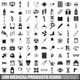 100 medical products icons set, simple style. 100 medical products icons set in simple style for any design vector illustration vector illustration