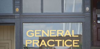 Medical General Practice Doctors Physicians Office. In the medical profession, a general practitioner GP is a medical doctor who treats acute and chronic royalty free stock images