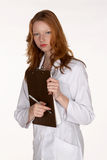 Medical Professional Holding Clipboard Royalty Free Stock Photos