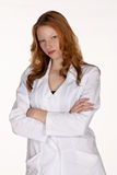 Medical Professional in Lab Coat with Arms Folded Stock Photography