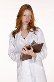 Medical Professional with Pen and Clipboard Royalty Free Stock Photos
