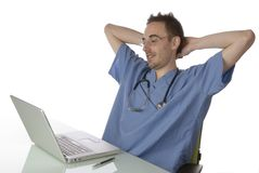 Medical professional relaxing Royalty Free Stock Photo