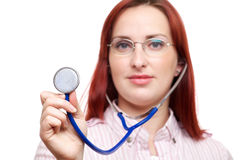 Medical professional with stethoscope Stock Images
