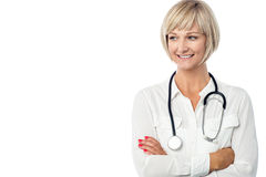Medical professional with stethoscope Stock Photos