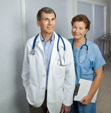 Medical Professionals. Mature male and female medical professionals Stock Photos