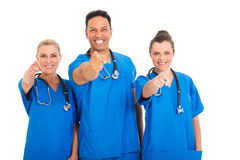 Medical professionals pointing Stock Photography