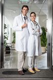 Medical Professionals Standing At Hospital Royalty Free Stock Photos