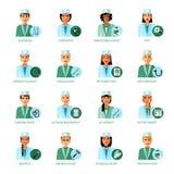 Medical Professions Avatars Set Stock Image