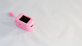 Medical Pulse Oximeter- Pink Royalty Free Stock Image