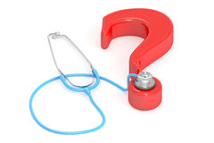 Medical question concept, 3D rendering. On white background Royalty Free Stock Photos