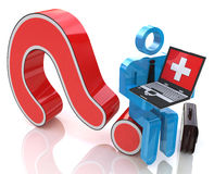 Medical question. In the design of the information related to the assistance Stock Photos