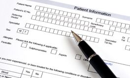 Medical Questionnaire Stock Photos