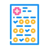 Medical questionnaire color icon vector illustration sign