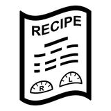 Medical recipe icon, simple style. Medical recipe icon. Simple illustration of medical recipe vector icon for web Royalty Free Stock Images