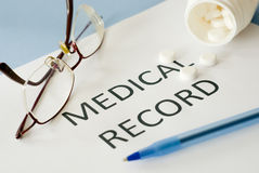 Medical record Royalty Free Stock Photos