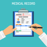 Medical record concept Royalty Free Stock Photo
