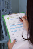 Medical record form. Stock Images