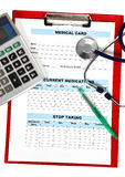 Medical record form Stock Photography
