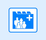 Medical record icon with family Stock Photography