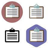 Medical record icon Royalty Free Stock Photo