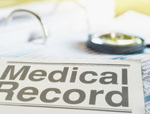 Medical record Royalty Free Stock Photography