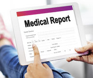 Medical Record Report Healthcare Document Concept Stock Images