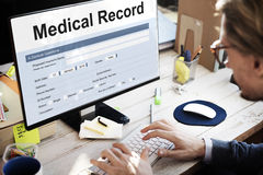 Medical Record Report Healthcare Document Concept Royalty Free Stock Photo