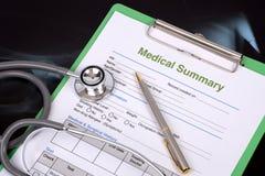 Medical record. royalty free stock image