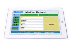 Medical record on tablet. Stock Photography