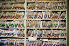 Medical records. In doctor's office Royalty Free Stock Photos
