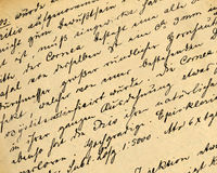 Medical records. Part of old 19th century medical records Royalty Free Stock Photo