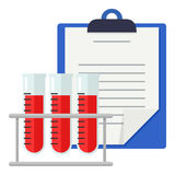Medical Records & Blood Test Flat Icon vector illustration