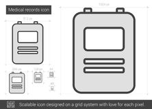 Medical records line icon. Stock Images