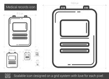 Medical records line icon. Royalty Free Stock Image
