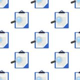 Medical Records Magnifying Glass Pattern Stock Photos