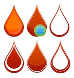 Medical red blood drop Royalty Free Stock Photo
