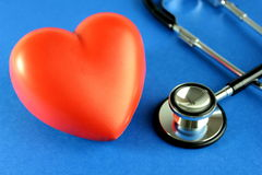 Medical and red heart health Stock Image