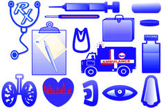 Medical related icon design Stock Images