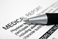 Medical report Stock Photography