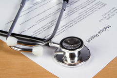 Medical report Stock Image