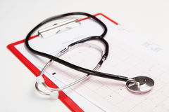 Medical report and cardiogram Stock Photography