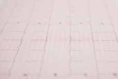 Medical report and cardiogram Stock Photo