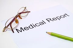 Medical report Royalty Free Stock Photo