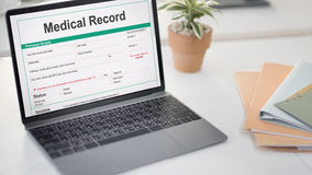 Medical Report Record Form History Patient Concept stock photos