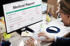 Medical Report Record Form History Patient Concept Royalty Free Stock Photography