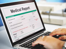 Medical Report Record Form History Patient Concept Royalty Free Stock Photo