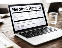 Medical Report Record Form History Patient Concept Royalty Free Stock Image