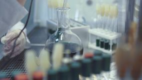 Medical Research with Test Tubes stock video footage
